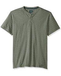 G.H. Bass & Co. - Jack Mountain Textured Jersey Short Sleeve Henley - Lyst