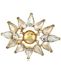 Trina Turk - Sparkle And Shine Cluster Brooch And Pin - Lyst