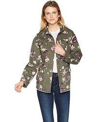 Levi's - Slub Floral Printed Cotton Two Pocket Shirt Jacket - Lyst