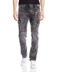 d6b2a9d9 Lyst - True Religion Rocco Skinny Fit Cargo Moto Jeans in Black for Men