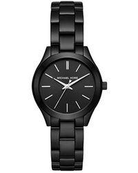 8954fdfb9242 Michael Kors - Mini Slim Runway Black Watch Mk3587 - Lyst
