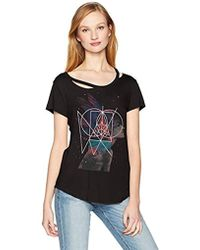 William Rast - Riot Single Cold Shoulder Graphic Tee - Lyst