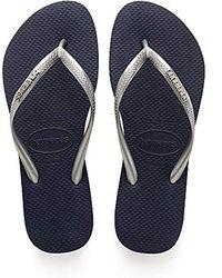 Havaianas - Slim Logo Metallic, Flip Flops - Lyst