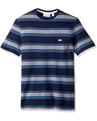Lacoste - Irregular Stripe Jersey T-shirt, Th1932-51 - Lyst