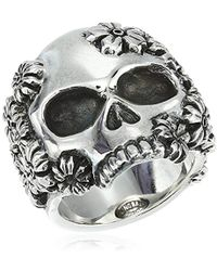 King Baby Studio - Unisex Sakura Large Skull Ring - Lyst