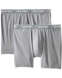 73f28f5dc855 Lyst - Calvin Klein Underwear Ck One Cotton Stretch Trunk in Black ...
