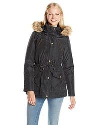 Madden Girl - Anorak Parka With Faux Fur Trim Hood - Lyst