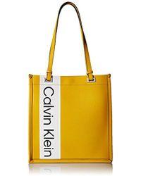 Calvin Klein - Franzy Saffiano North/south Tote - Lyst