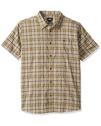 O'neill Sportswear Casual Standard Fit Short Sleeve Woven Button Down Shirt - Multicolour