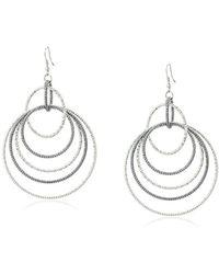 Guess - S Anyone's Multi Linked Hoop Earrings - Lyst