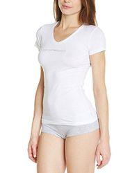 Emporio Armani - Essential Stretch Cotton V-neck Tee - Lyst
