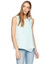 CALVIN KLEIN 205W39NYC - Sleeveless Top With Asymmetrical Hem - Lyst