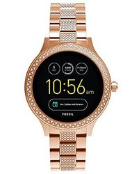 Fossil - Gen 3 Q Venture Rose Goldtone Pave Smart Watch - Lyst