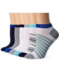 Nautica - Stripe 6pp Fashion No Show Socks - Lyst