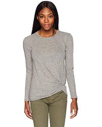 Stateside - Supima Slub Long Sleeve Twist Tee - Lyst