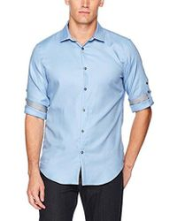 CALVIN KLEIN 205W39NYC - Long Sleeve Twill Roll-up Button Down Shirt - Lyst