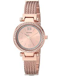 Guess - Stainless Steel Casual Wire Bangle Bracelet Watch - Lyst