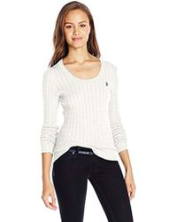 Lyst Us Polo Assn Juniors Cable Knit Scoop Neck Pullover