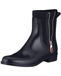 Tommy Hilfiger - Material Mix Rain Boot, Botas de Agua para Mujer - Lyst