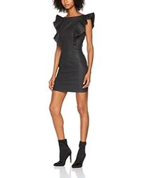 db5628064f1527 Bebe Petite Faux Leather Dress in Black - Lyst
