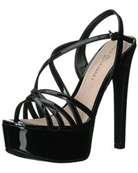 b9cbc0da07f0 Lyst - New Look Teaser Caged Gladiator Black Heeled Sandals in Black
