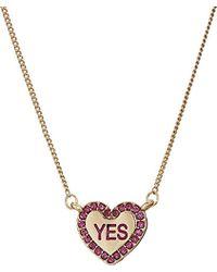 Betsey Johnson - S Conversation Heart 4 Pendant Set Necklace - Lyst