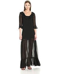 7724e106857a Lyst - For Love   Lemons Tarta Long Sleeve Mini Dress in Black