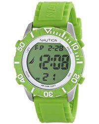 Nautica - Unisex N09926g Nsr 100 Green Digital Watch - Lyst