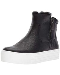 Kenneth Cole - Janelle Platform Bootie With Double Zip Shearling Sneaker - Lyst