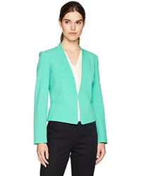 Nine West - Solid Stretch Crepe Jkt With Lapels - Lyst