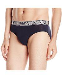 Emporio Armani - Pima Cotton Brief - Lyst