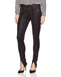 William Rast - Sexy Back Moto Skinny Jean With Front Hem Slit - Lyst