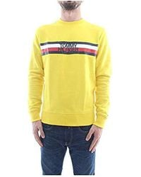 291f9236d Tommy Hilfiger Men's Tommy Jeans Graphic Sweatshirt in Gray for Men ...