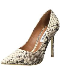 61f67aa6ba7 Steve Madden Paiton Lace Detail Stiletto Heel Court Shoes in Gray - Lyst