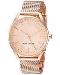 Nine West - Nw/2194rgrg Rose Gold-tone Mesh Bracelet Watch - Lyst