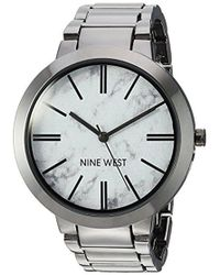Nine West - Nw/1985hlte Marbleized Dial Gunmetal Bracelet Watch - Lyst