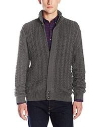 French Connection - Cable Guy Full Zip Sweater - Lyst