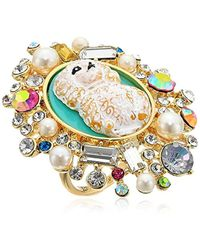 Betsey Johnson - S Poodle Cameo Ring - Lyst