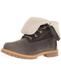 Timberland - Teddy Fleece Fold-down Waterproof Boot - Lyst