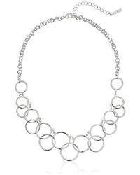 Nine West - Classics Silver-tone Multi-circle Bib Necklace - Lyst