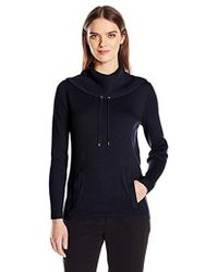 Jones New York - Pullover Drawcord Cowl Neck - Lyst