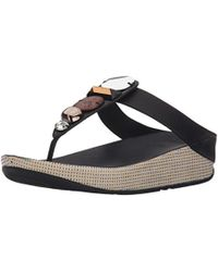 Fitflop - Jeweley Toe-post Flip Flop - Lyst