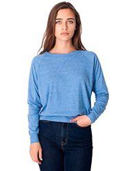 dd19a82463 American Apparel - Tri-blend Rib Light Weight Raglan Pullover - Lyst