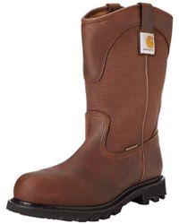 """Carhartt - 11"""" Wellington Waterproof Steel Toe Leather Pull-on Work Boot Cmp1220 - Lyst"""