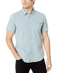 O'neill Sportswear Casual Standard Fit Short Sleeve Woven Button Down Shirt - Blue