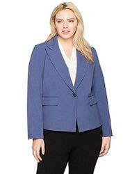 Nine West - Plus Size 1 Button Notch Collar Jacket - Lyst