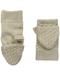 Calvin Klein - Cable Hand Warmers With Plush Lining - Lyst