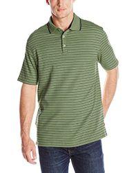 Izod - Short-sleeve Feeder-stripe Interlock Polo Shirt - Lyst