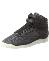 Reebok Freestyle Hi Lux Txt Top Trainers