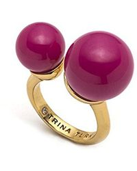 Trina Turk - Beads In Bloom Open Pearl Ring, Size 7 - Lyst